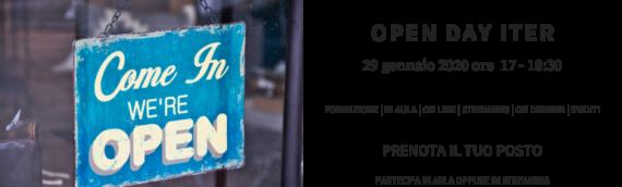 OPEN DAY ITER: Ti aspettiamo il 29 gennaio alle 17.00